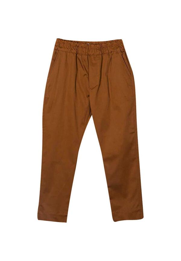 Paolo Pecora pantalone color rame con elastico in vite