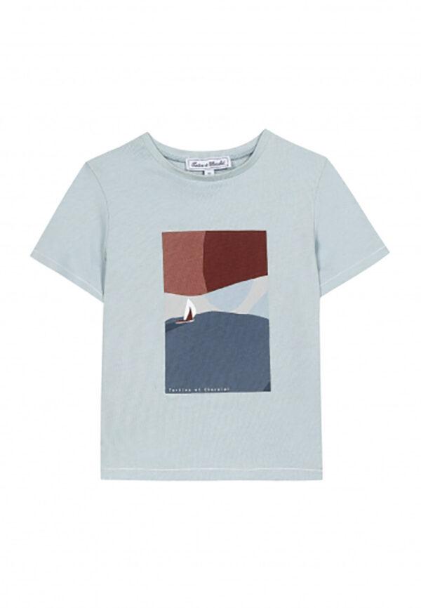 tartine et Chocolat t-shirt con stampa marina