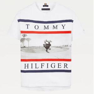 TOMMY HILFIGER JUNIOR T-SHIRT CON STAMPA
