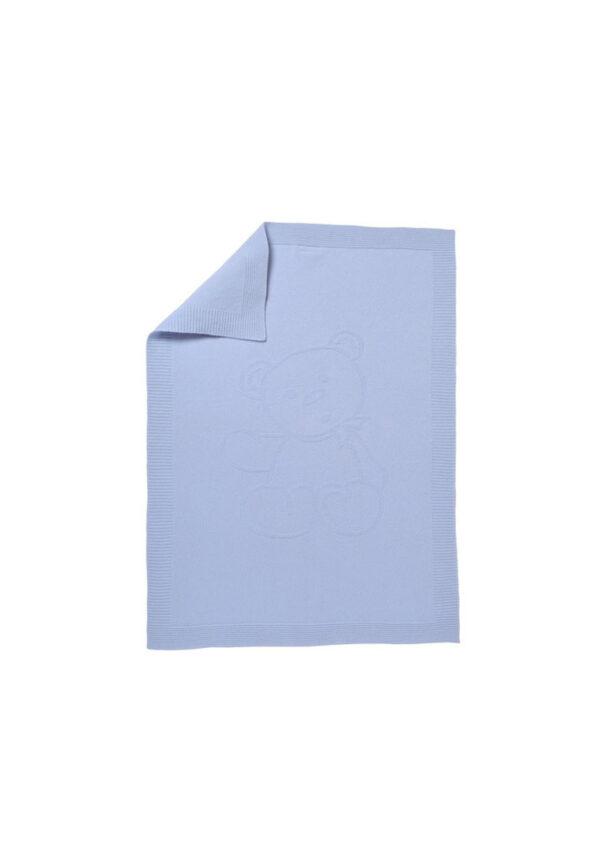 Tartine et chocolat copertina in cashmere blu