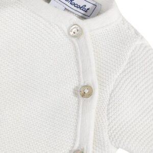 Tartine Et Chocolat T-shirt Cardigan Bianco Con Bottoni Laterali