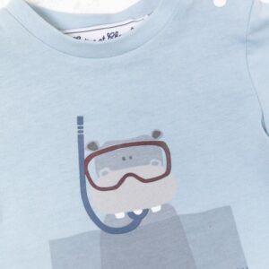 Tartine Et Chocolat T-shirt Horizon Blu