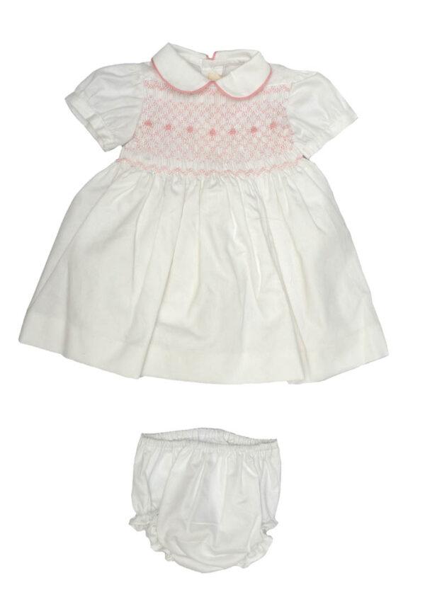 Amore della Mamma vestitino neonata bianco e rosa