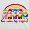 Love Therapy logo arcobaleno con gnomi