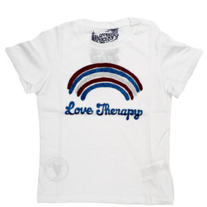 LOVE THERAPY T-SHIRT RAINBOW GLITTER