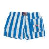 MC2 Saint Barth boxer a righe bianche e azzurre con lcacetti rossi