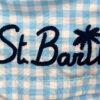 MC2 Saint Barth costume boxer mare bambino a quadretti blu e gialli con stampa Paperino