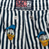 MC2 Saint Barth costume boxer mare bambino a righe blu con stampa Paperino