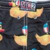 MC2 Saint Barth costume boxer fantasia paparelle gialle
