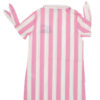 MC2 Saint Barth camicia a righe rosa e bianche con logo blu