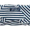 MC2 Saint barth costume due pezzi a righe banche e blu con dettaglio paperelle in rilievo