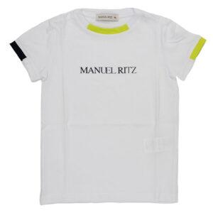 MANUEL RITZ T-SHIRT CON LOGO STAMPATO