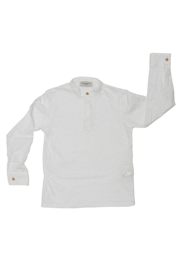Paolo pecora kids camicia bianca coreana