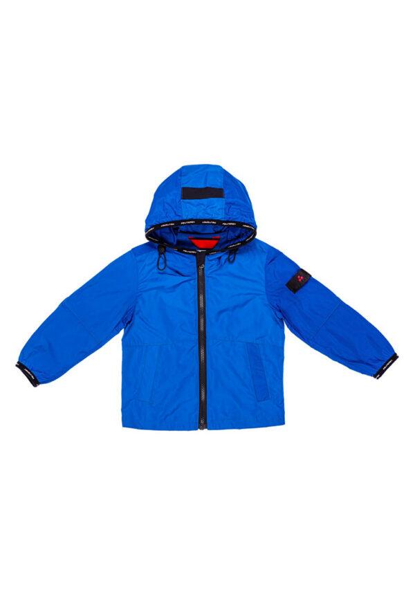 Peuterey giacca blu con cappuccio azzurra