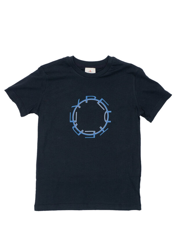 Peuterey t-shirt blu scuro con logo circolare