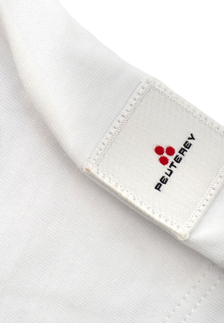 Peuterey t-shirt bianca mezza manica dettagli logo