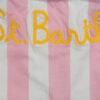 MC2 Saint Barth costume bambina a righe verticali bianche e rosa