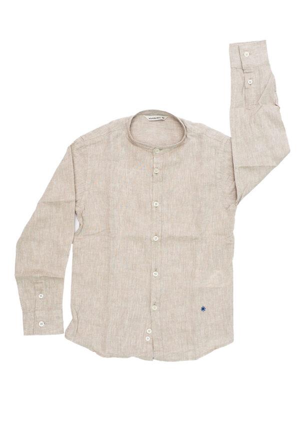 Manuel Ritz camicia lino collo coreana