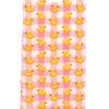 MC2 Saint Barth abito bambina con stampa motivo paparelle gialle su sfondo rosa