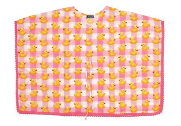 MC2 Saint Barth abito bambina con stampa motivo paparelle gialli su sfondo rosa
