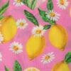 MC2 Saint Barth abito bambina con stampa motivo limoni gialli su sfondo rosa