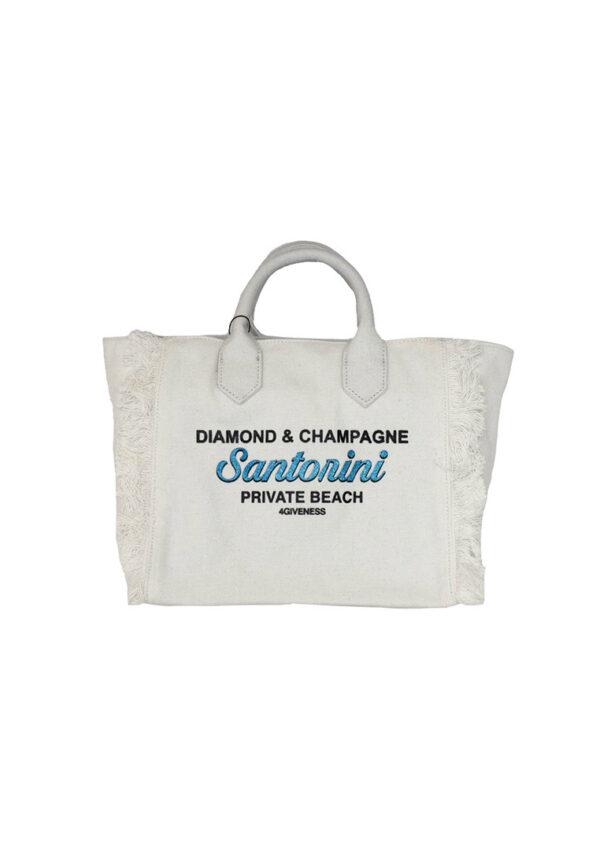 4Giveness borsa mare bianca Santorini