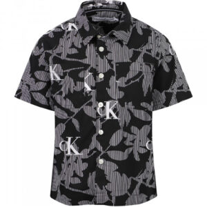 CALVIN KLEIN KIDS CAMICIA CON STAMPA ALL OVER