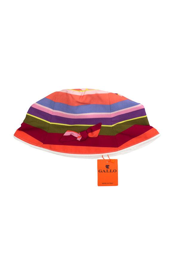 Gallo cappellino bambino a righe multicolor