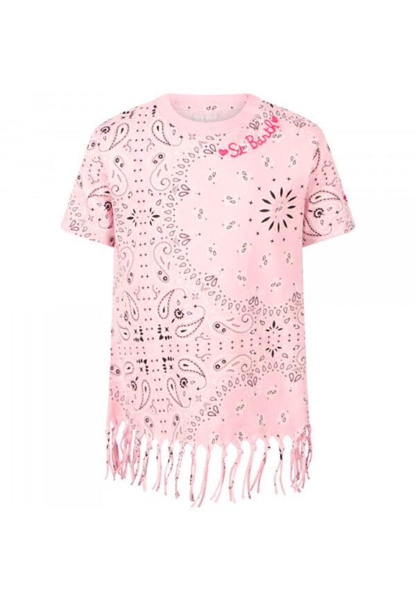 Mc2 Saint Barth abito frange rosa per bambina