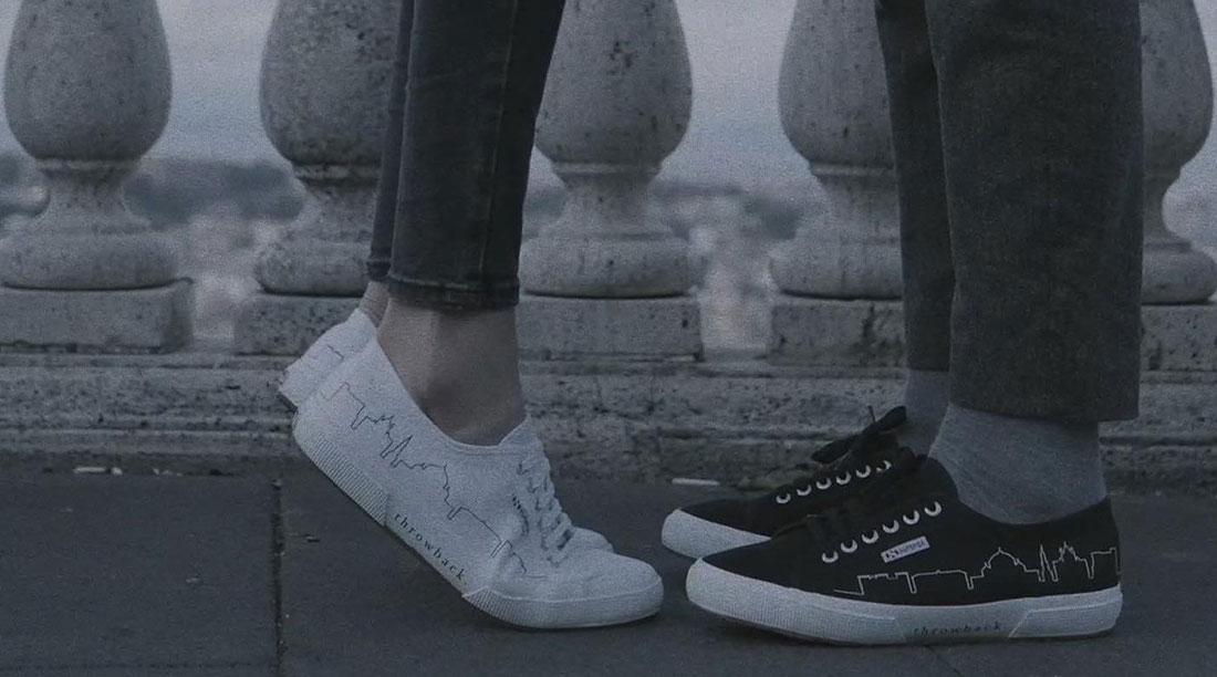 Sneakers Superga Con I Monumenti Di Napoli