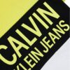 Calvin Klein jeans t-shirt multicolor gialla, nera e bianca con logo giallo dettagli