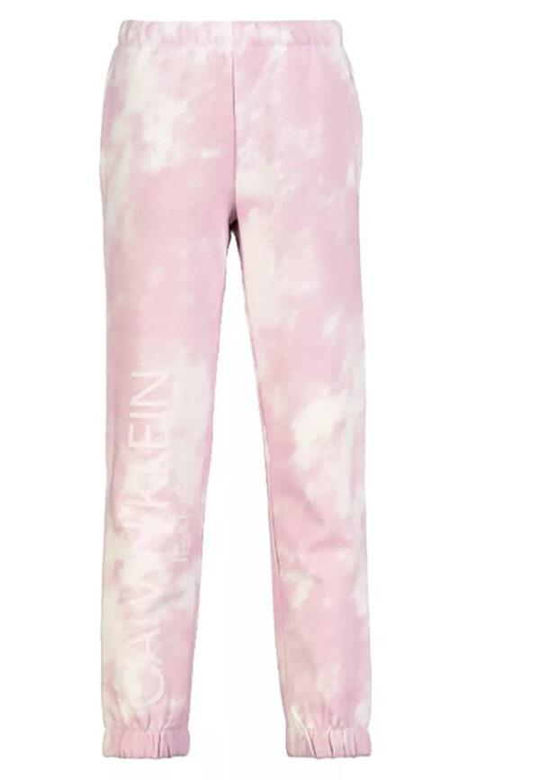 Calvin Klein pantalone rosa tye per ragazza con logo