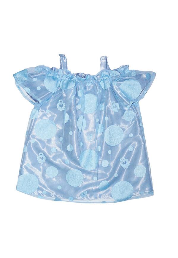 Simonetta Chantecler abito per bambina azzurro lucido