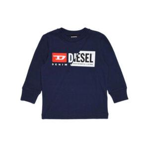 Diesel Kids Felpa Con Doppio Logo