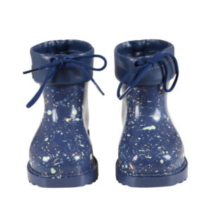 MINI MELISSA Stivali Blu Per Bambini Con Macchie Colorate
