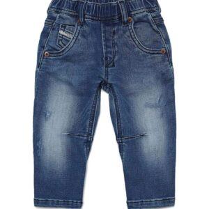 Diesel Kids Jeans Slim Con Effetto Schiarito