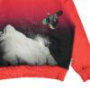 Molo felpa rossa per bambino con stampa snowboard
