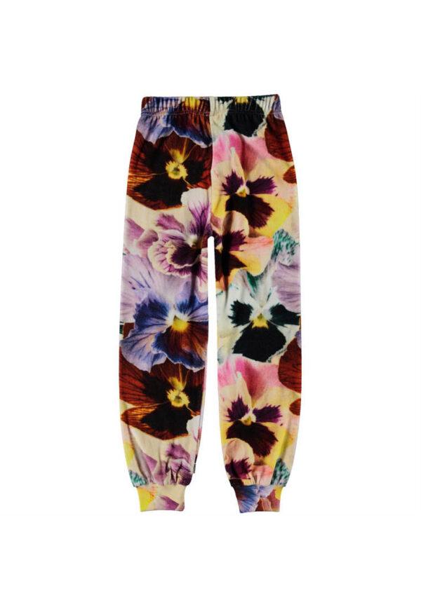 Molo pantaloni tuta a tema floreale per bambina