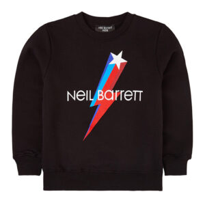 Neil Barrett Kids Felpa Con Stampa