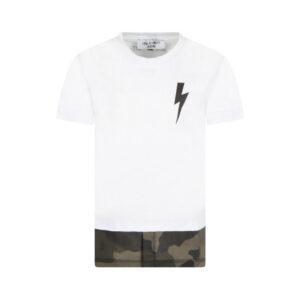 Neil Barrett Kids T-shirt Con Fulmine